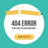Fehlerseiten-Vektorillustration des Konzeptes 404 Fehlerwebseitenschablone Stockfotos