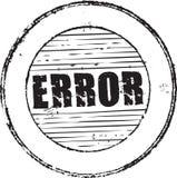 Fehlerstempel Stockbild