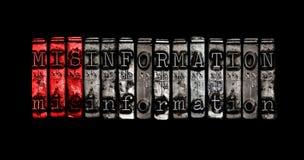 fehlinformation Lizenzfreies Stockbild