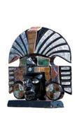 Fehlschlag der alten aztekischen Gottheit stockbild
