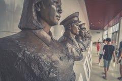 Fehlschlag von rote Armee-General in Jinggangshan-Kupferskulptur-c$jinggangshan Museum stockfotografie