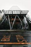 Fehlschlagstoppschild und das Leadenhall-Gebäude, Finanzbezirk, Stadt von London lizenzfreie stockfotos