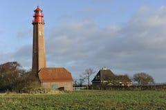 Fehmarn, helles Haus Stockfoto