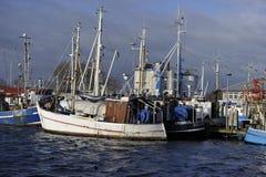 Fehmarn, porto Burgstaaken fotografie stock libere da diritti