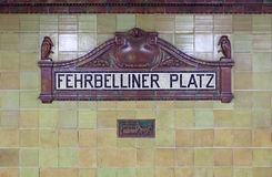 Fehrbelliner Platz Sign Royalty Free Stock Photos