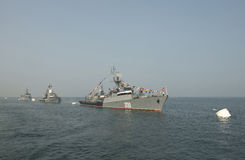 "Feier †""Tagesmilitär - Marine Russland Lizenzfreie Stockbilder"