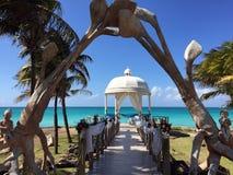 Feier auf dem Strand, Kuba Lizenzfreie Stockfotos
