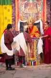Feier beim Trongsa Dzong, Trongsa, Bhutan Lizenzfreies Stockbild