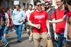 Feier der Befreiung gehalten in Mailand am 25. April 2014 Lizenzfreie Stockfotografie