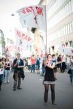 Feier der Befreiung gehalten in Mailand am 25. April 2014 Lizenzfreie Stockfotos