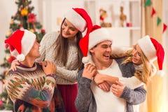 Feier der frohen Weihnachten Stockbild