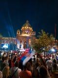 Feier in der Hauptstadt von Serbien lizenzfreies stockfoto