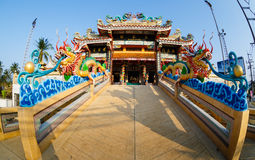 Feier des chinesischen neuen Jahres im Tempel Saphan Hin Stockfotografie
