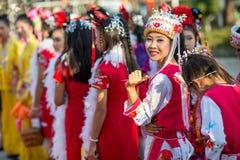 Feier des Chinesischen Neujahrsfests Stockbild