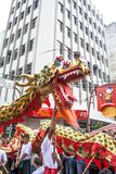 Feier des Chinesischen Neujahrsfests in Brasilien lizenzfreie stockfotos
