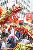 Feier des Chinesischen Neujahrsfests in Brasilien lizenzfreies stockbild