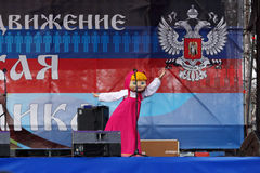 Feier des internationalen Tages der solidarität in Donetsk an Stockbild