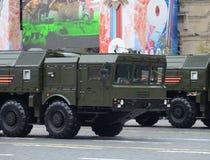 Feier des 72. Jahrestages der Victory Days WWII Der 9K720 Iskander NATO-Berichtsname SS-26 Stein ist ein SH Mobile Lizenzfreies Stockfoto
