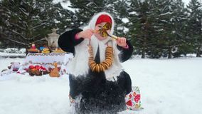 Feier des Karnevals in Russland stock video footage