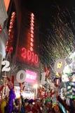 Feier des neuen Jahr-2010 in Hong Kong Stockbild
