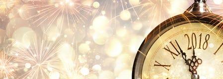 Feier 2018 des neuen Jahres stockfoto