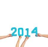 Feier des neuen Jahres 2014 Stockbilder
