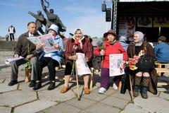 Feier des Sieg-Tages (Osteuropa) in der Anlage Stockbilder
