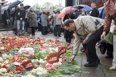 Feier des Sieg-Tages in Riga Stockbilder