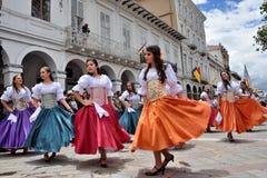 Feier für die 460 Jahre von Cuenca-` s Grundlage, Ecuador lizenzfreie stockbilder