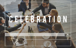 Feier feiern Lob-Partei-Glück-Jahrestags-Konzept Stockfotografie