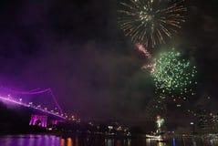Feier-Feuerwerke stockfoto