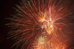 Feier-Feuerwerke lizenzfreie stockfotos