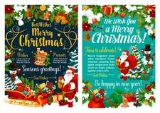 Feier glücklichen Sankt- und Weihnachtsfeiertags vektor abbildung
