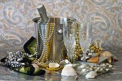 Feier mit Champagne Stockfotos