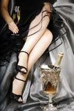 Feier mit Champagner Lizenzfreie Stockfotos