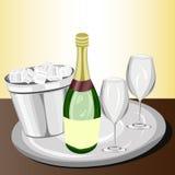 Feier mit Champagner Stockbilder