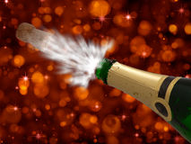 Feier mit Champagner auf Party-glücklichem neuem Jahr Stockfotografie