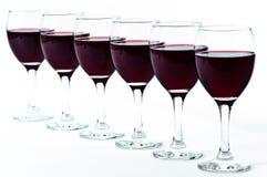 Feier mit Rotwein Lizenzfreies Stockfoto