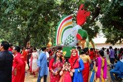Feier 1422 neuen Jahres Bangladeschs Stockbild