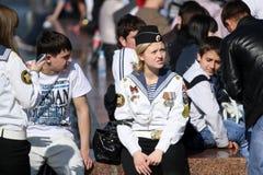 Feier-Sieg-Tag in Moskau Stockfotos