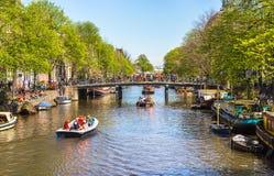 Feier von queensday am 30. April 2012 in Amsterdam Stockbilder