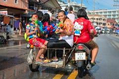 Feier von Songkran-Festival, das thailändische neue Jahr auf Phuket Lizenzfreies Stockbild