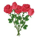 Feierblumenstrauß von roten Rosen vektor abbildung