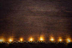 Feiergirlande von Glühlampen Lizenzfreies Stockfoto