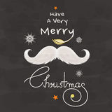 Feiergruß-Kartendesign der frohen Weihnachten stock abbildung
