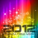 Feierhintergrund des neuen Jahres 2012 Stockfotos