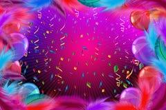 Feierhintergrund mit Karnevalsballonen Stockbild
