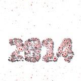 Feierillustration des neuen Jahres Lizenzfreie Stockfotos