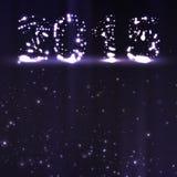 Feierillustration des neuen Jahres Stockbild