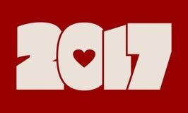Feierkarte des neuen Jahres und des Weihnachten Stockfotografie